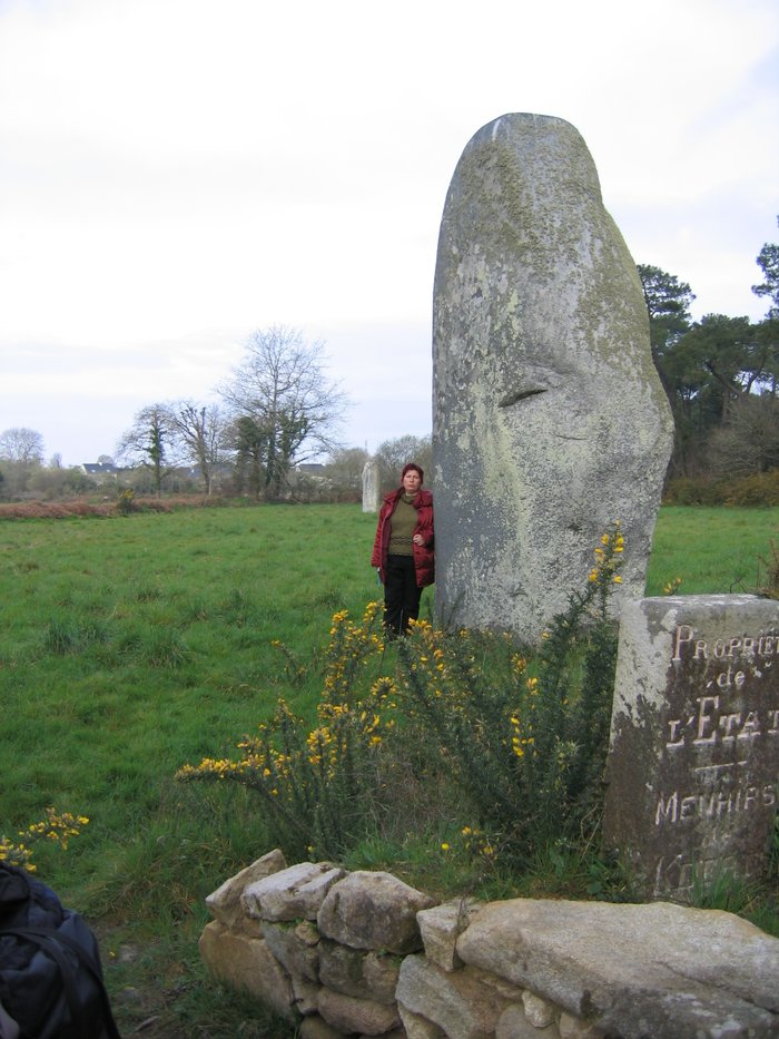Two menhirs not far from St.-Michel abbey