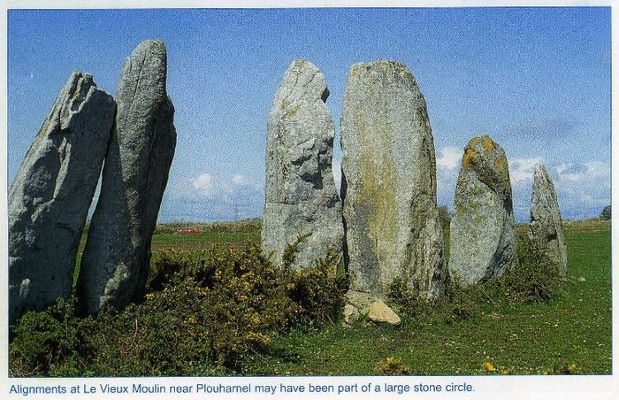 Стенка le Vieux Moulin фото Jacques Briard из его брошюры Carnac Land of megaliths