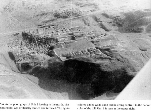"Aerial photo of Unit 2 ""Great Temples"" (by Strong, 1952) from the book by H"