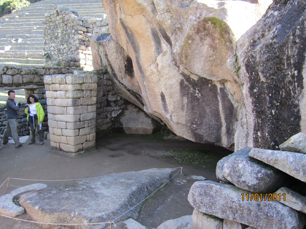 "Granite ledge at ""The Condor Temple"""