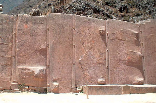 Sculpture of the surfaces of the blocks of so-called Temple of the Sun