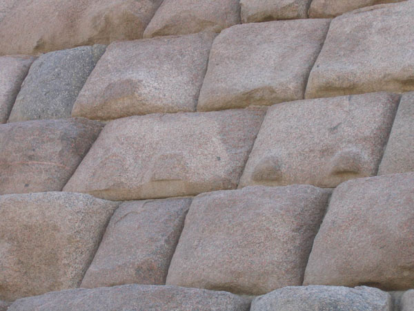 Granite facing of the pyramid of Menkaure