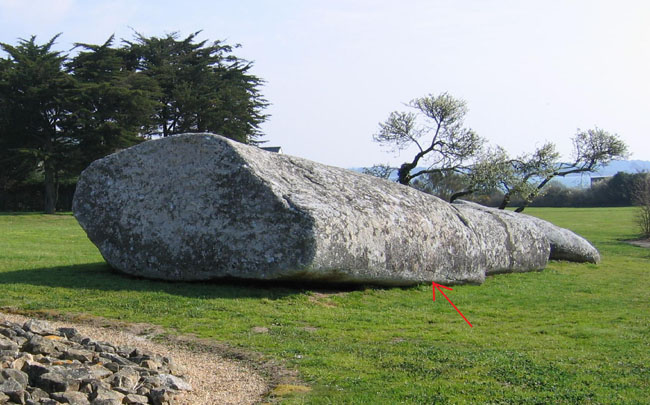 The Great Broken Menhir в Locmariaquer (Fr)